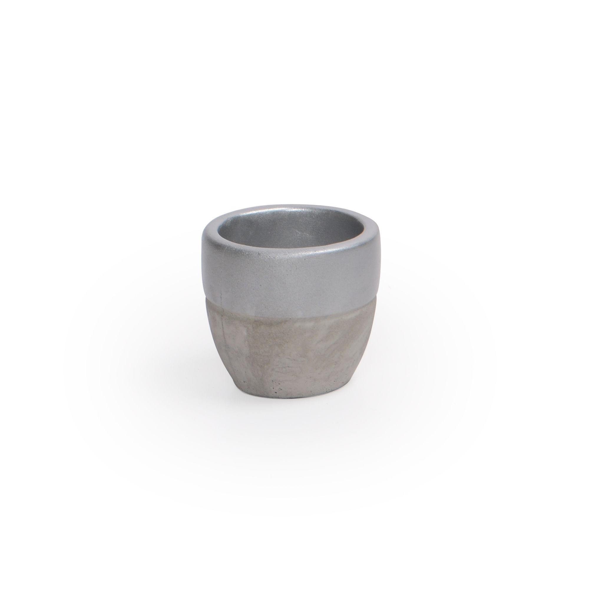 Vaso de Concreto Prata Pequeno