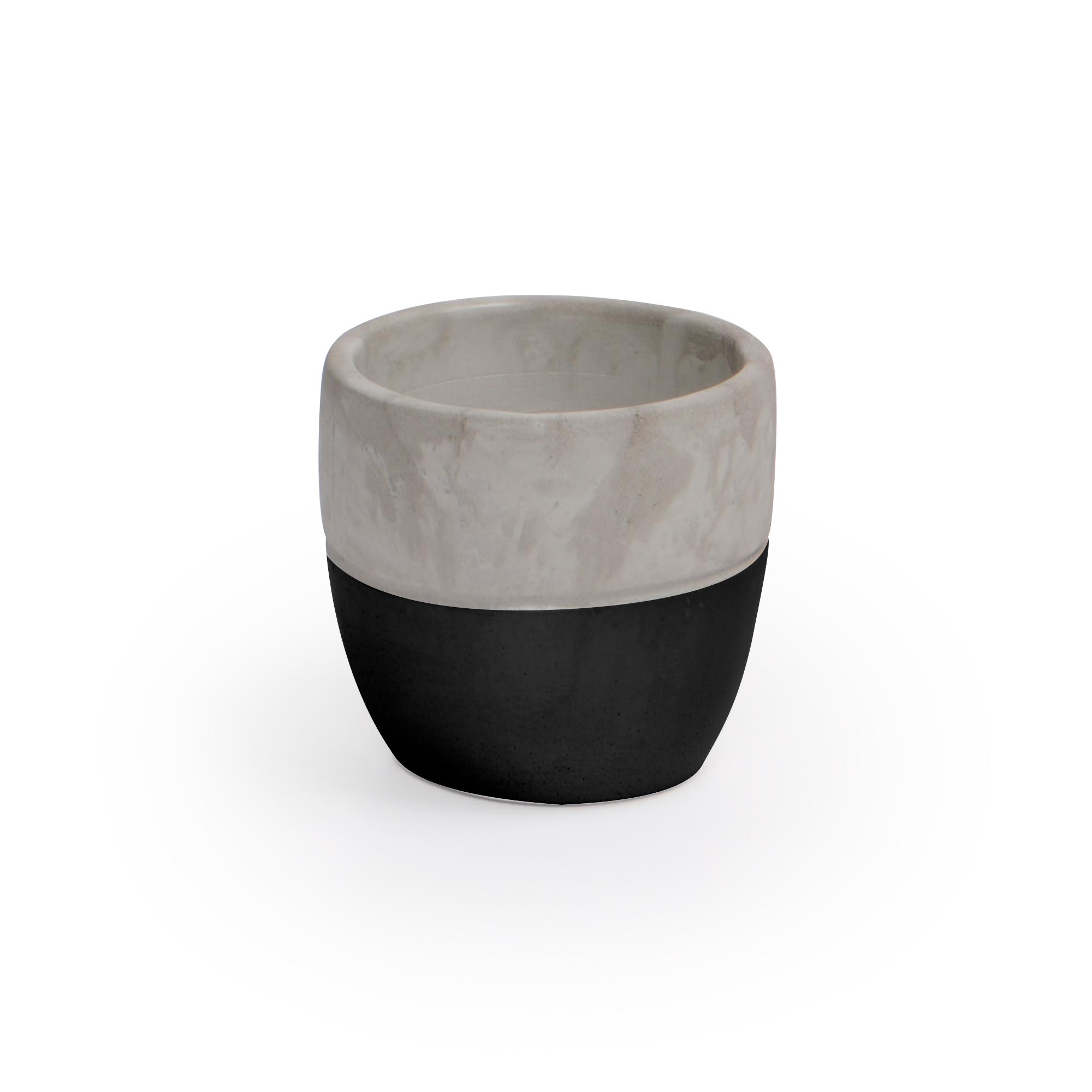 Vaso de Concreto Preto Médio