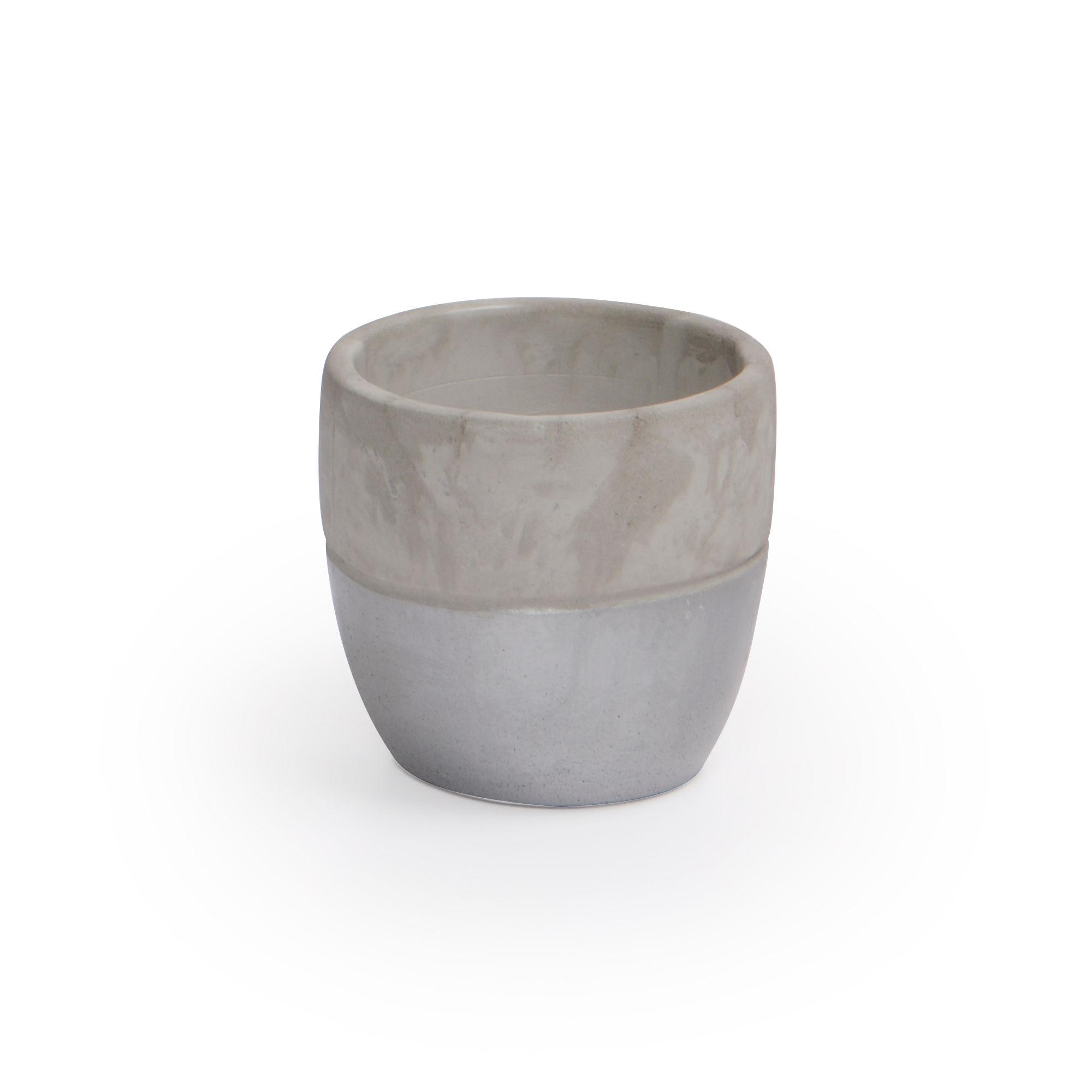 Vaso de Concreto Prata Médio