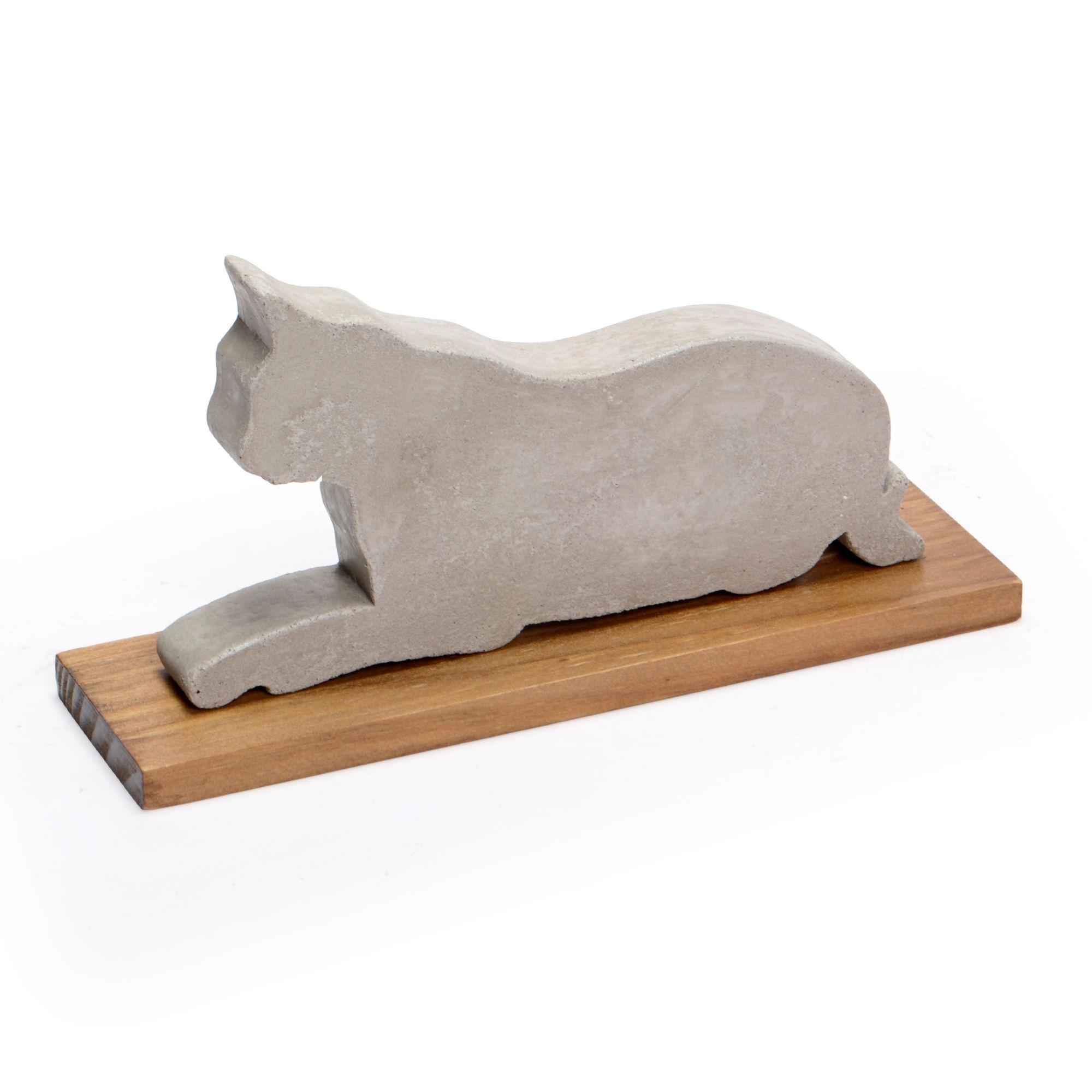 Escultura de concreto Gato
