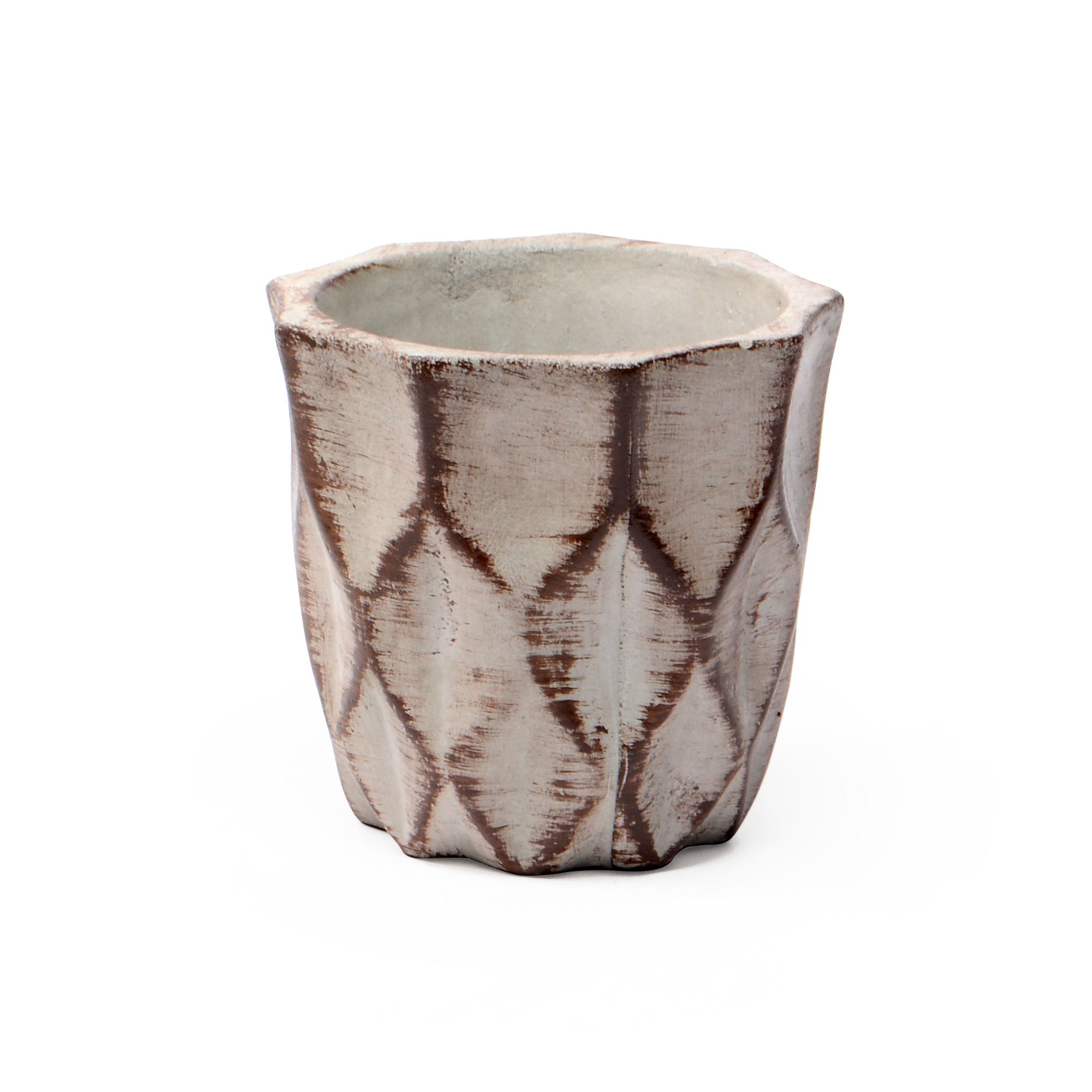 Vaso de concreto médio Colméia