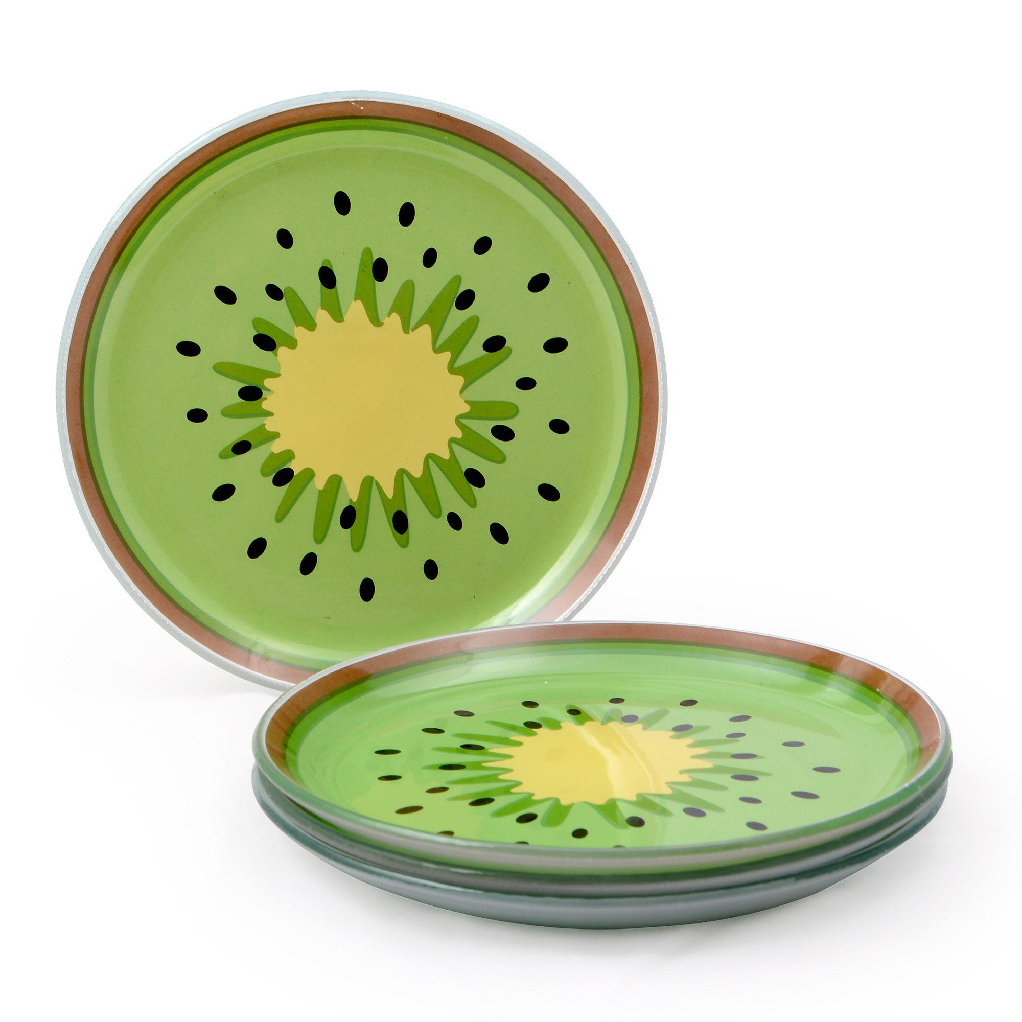 Conjunto de 04 pratos Kiwi