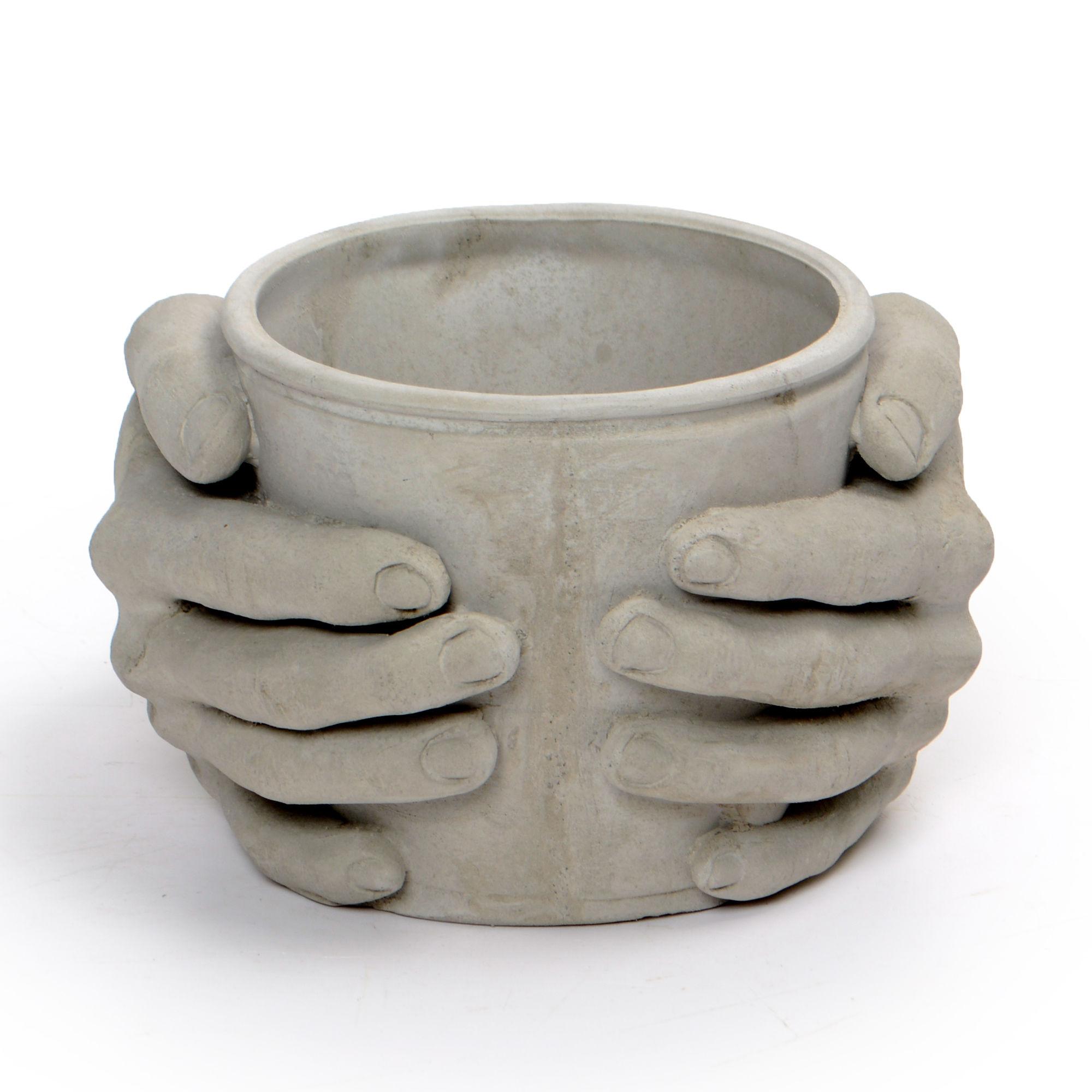 Vaso de Concreto Mãos