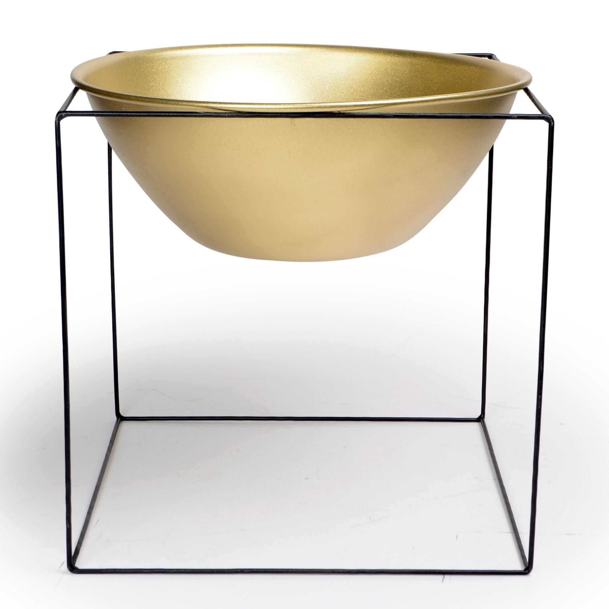 Vaso grande com suporte de Ferro Dourado