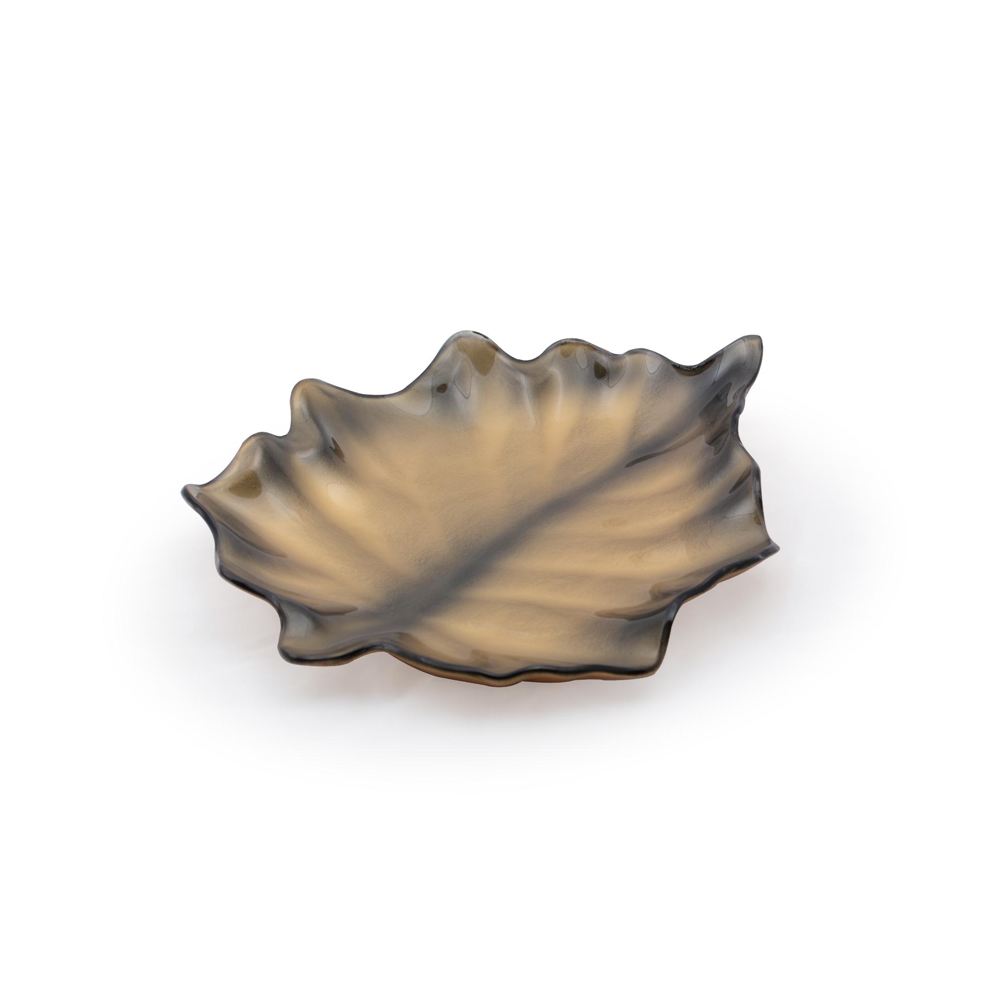Centro de mesa de vidro folha Metalizado