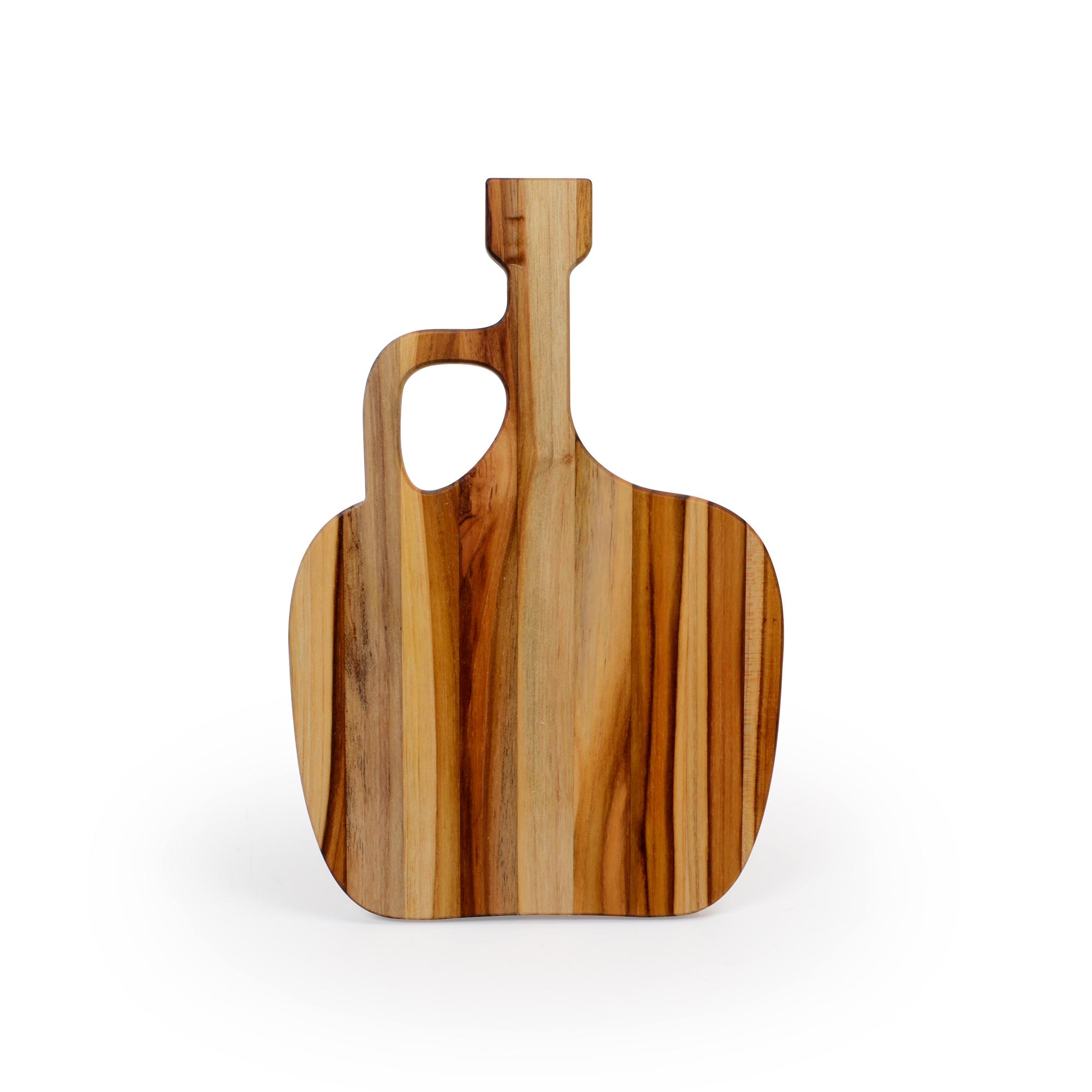 Tábua para queijo de madeira Teca Garrafão