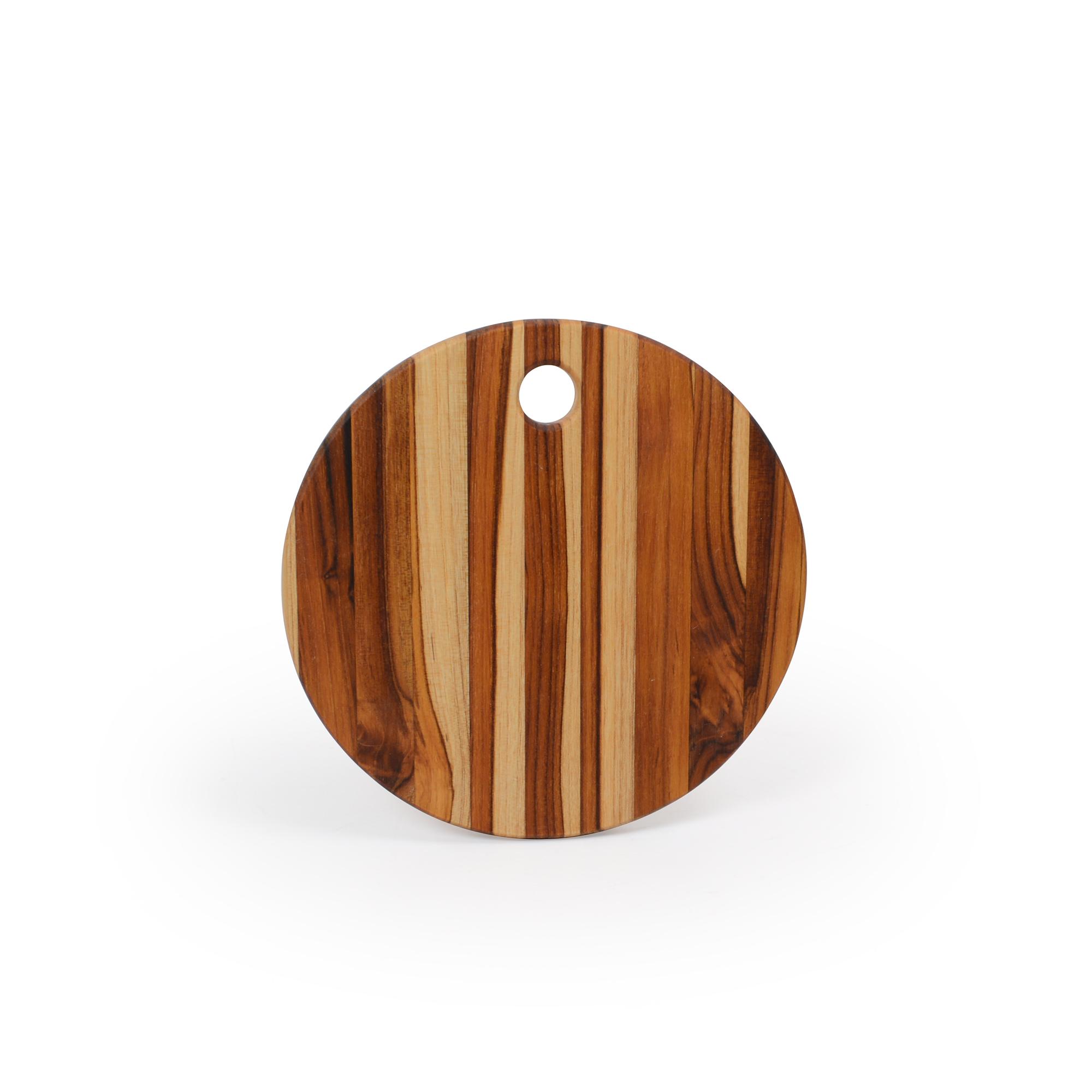 Tábua para queijo de madeira Teca redonda