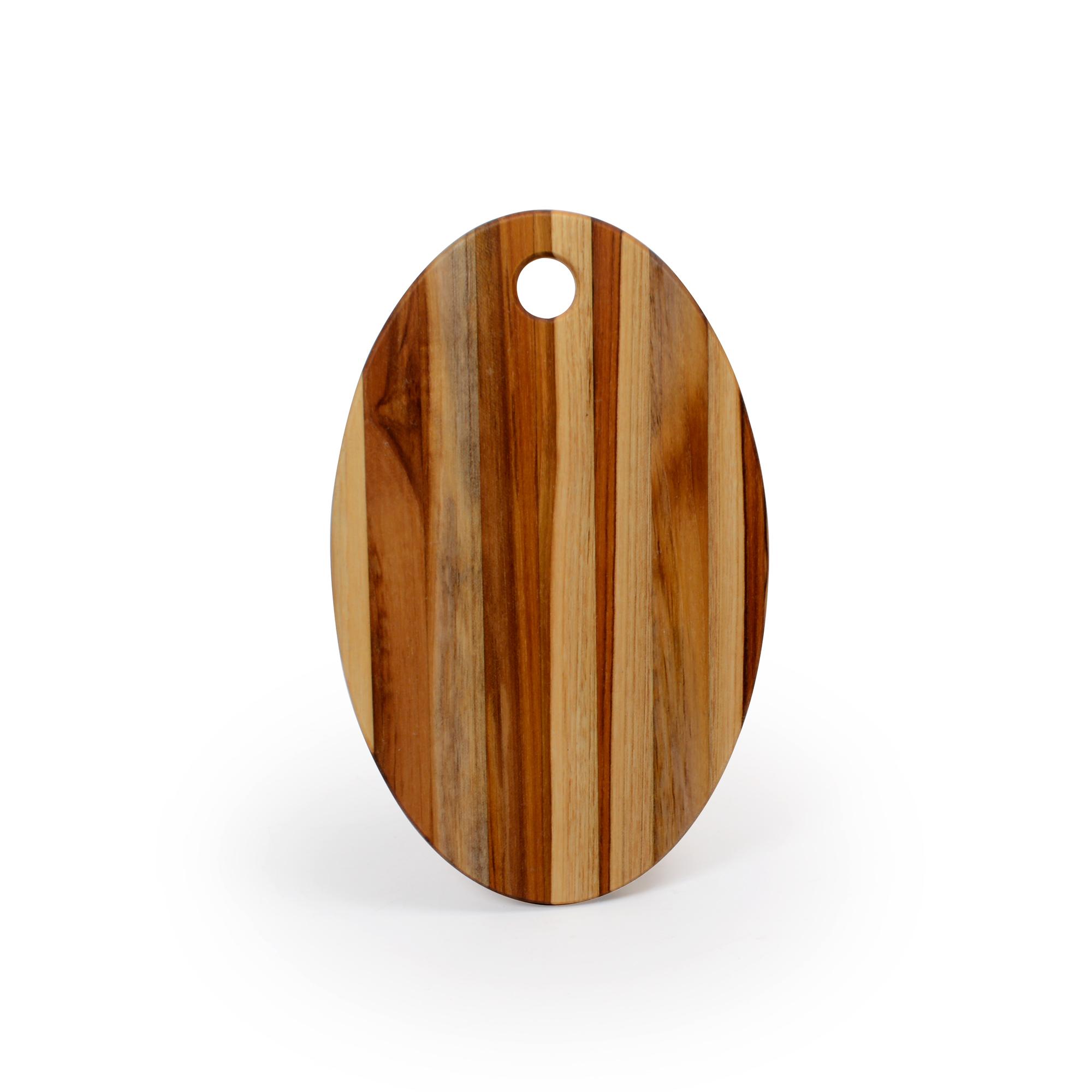 Tábua para queijo de madeira Teca Oval