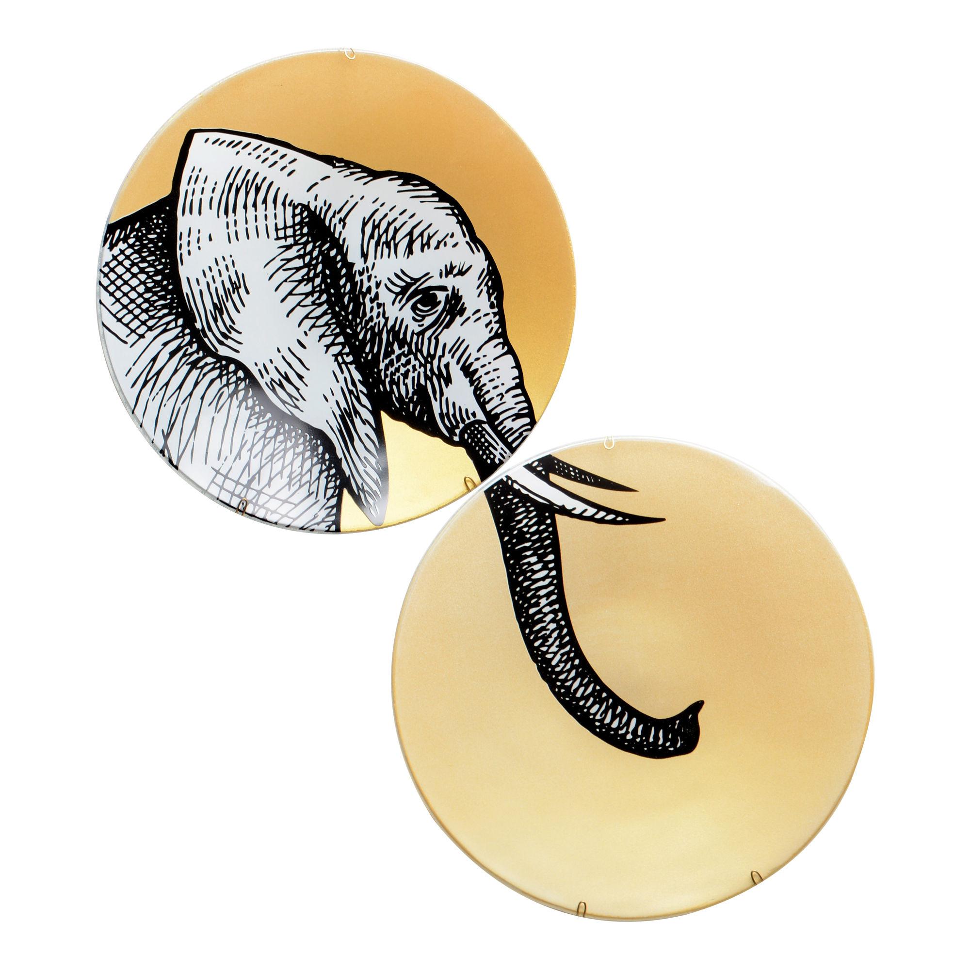Conjunto de pratos de parede Elefante