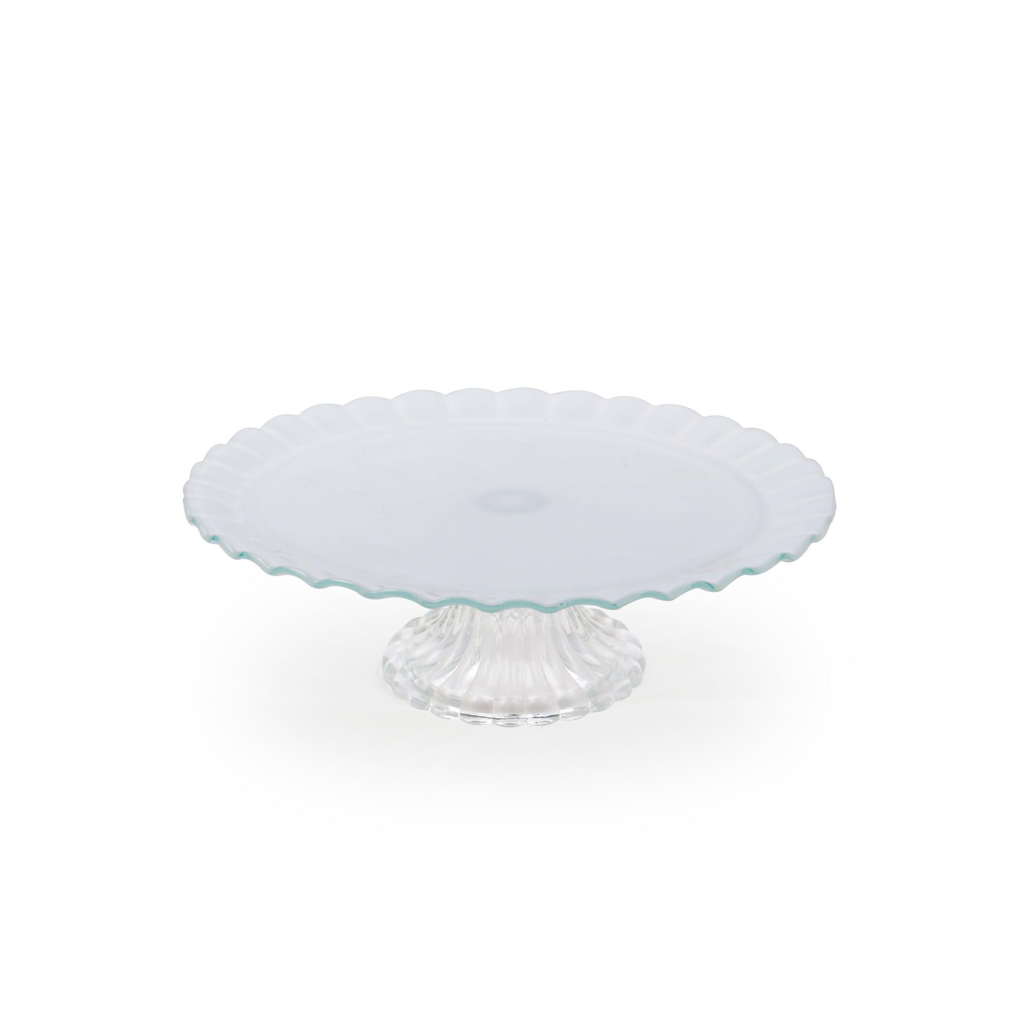 Boleira de vidro média branca
