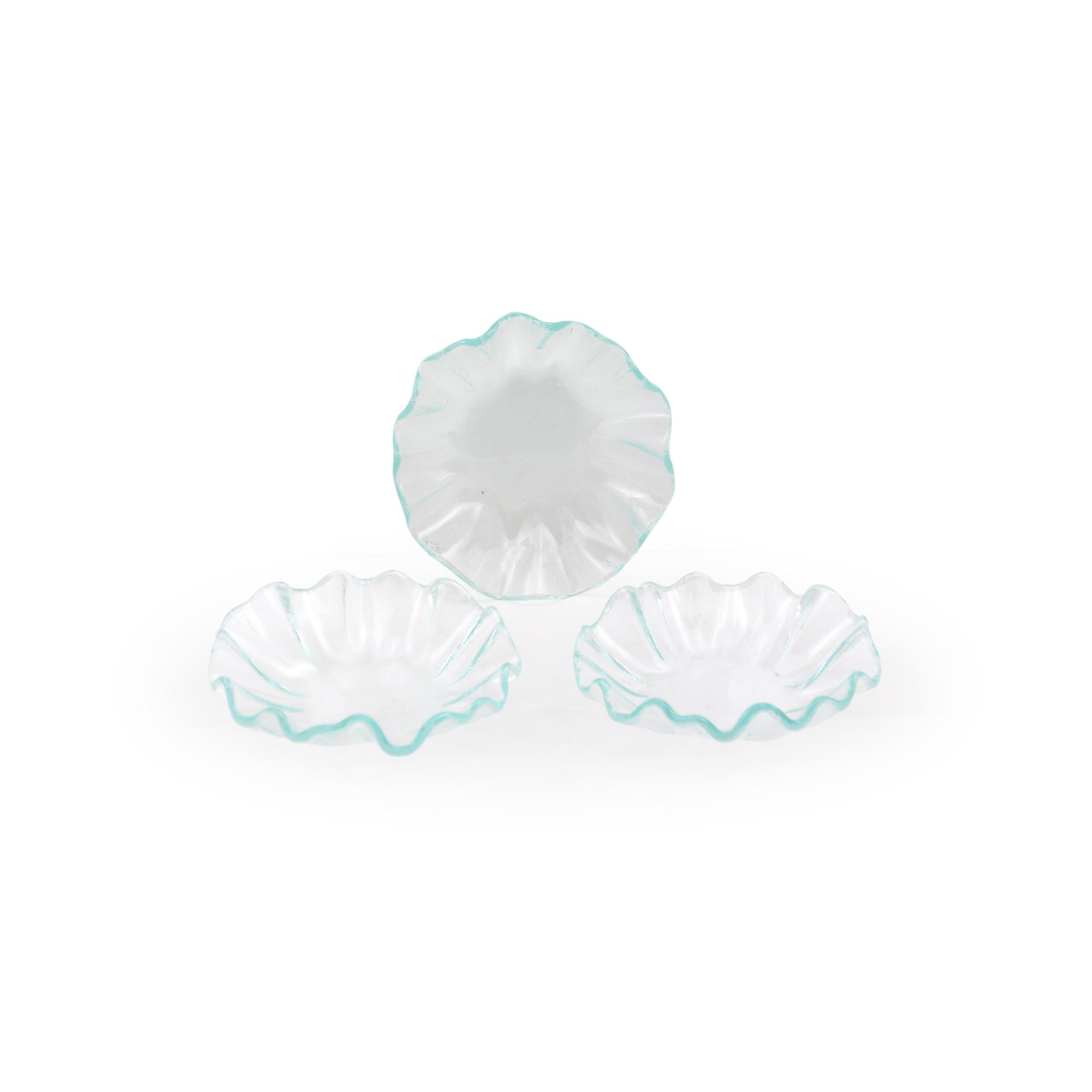 Conjunto 03 bowls pequeno de vidro transparente