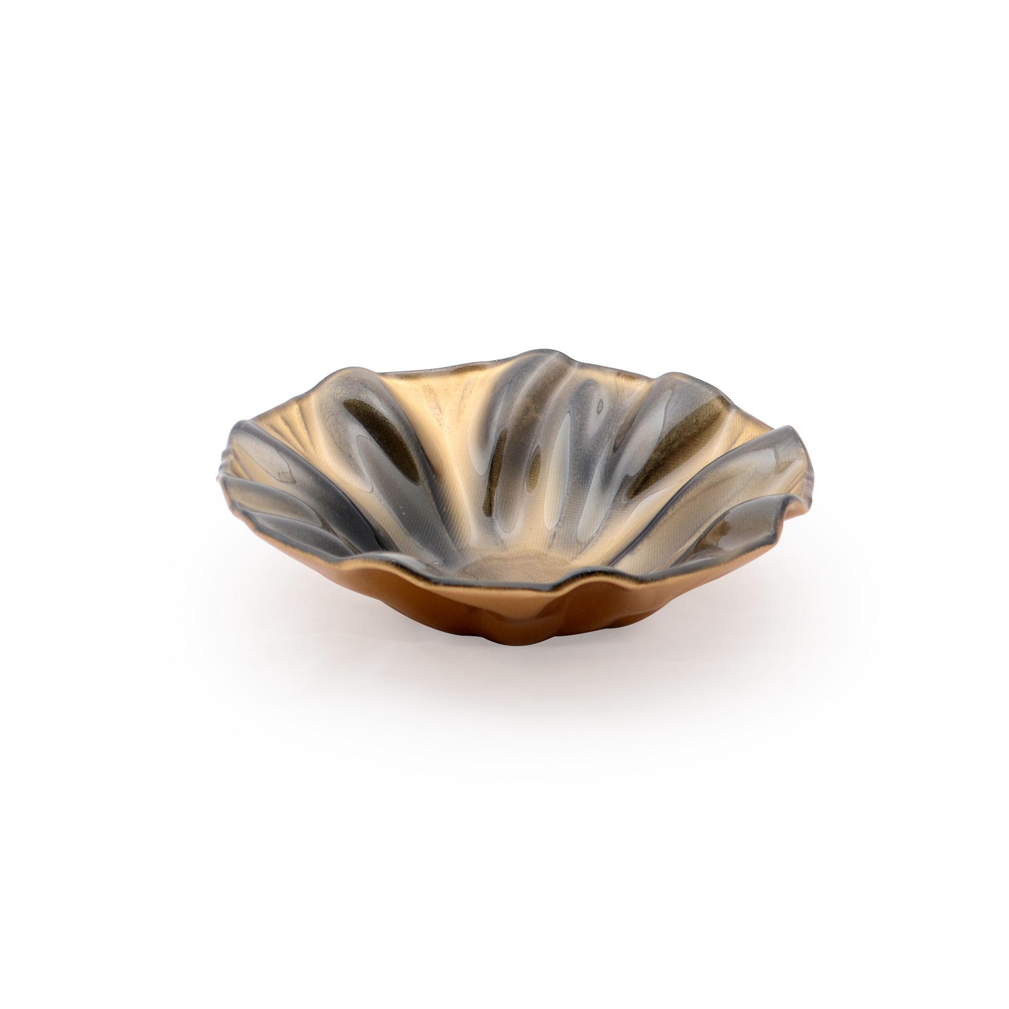 Bowl de vidro Metalizado