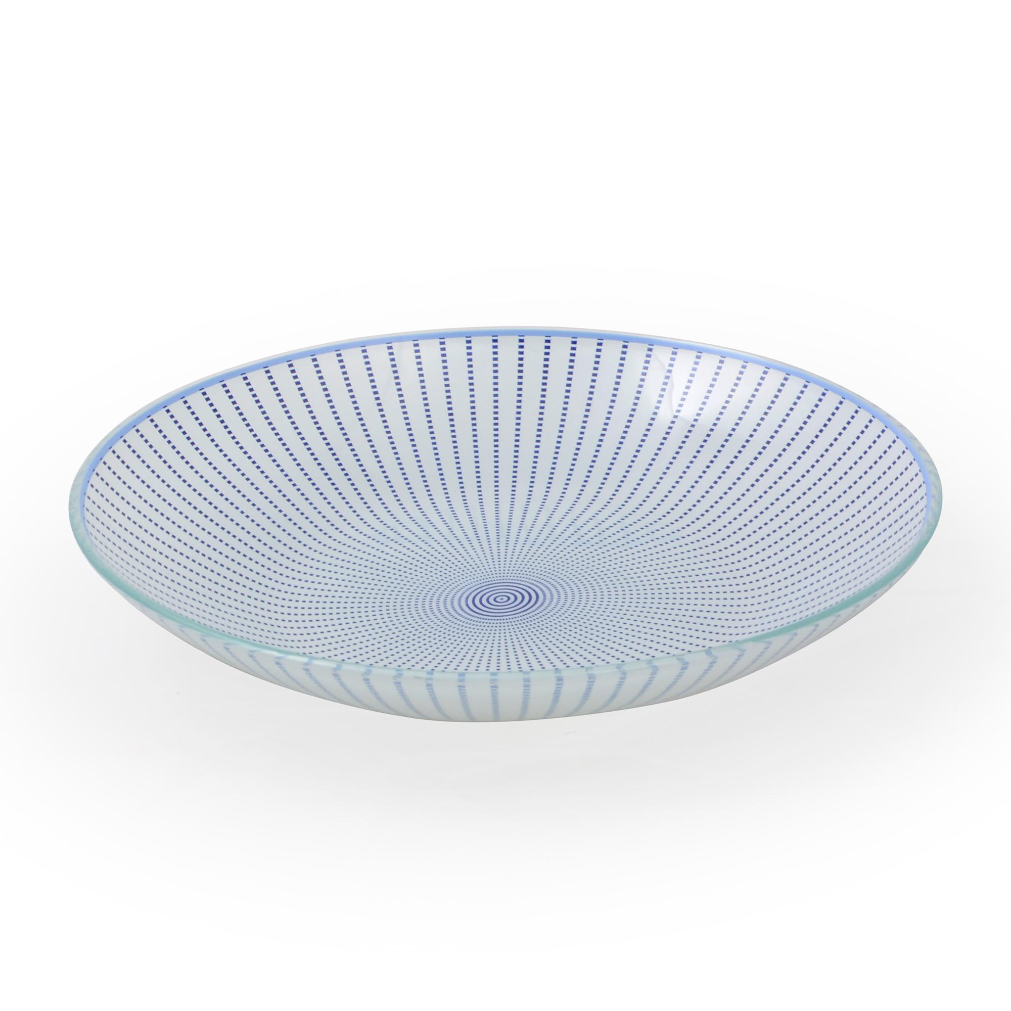 Bowl de Vidro Vortex Azul