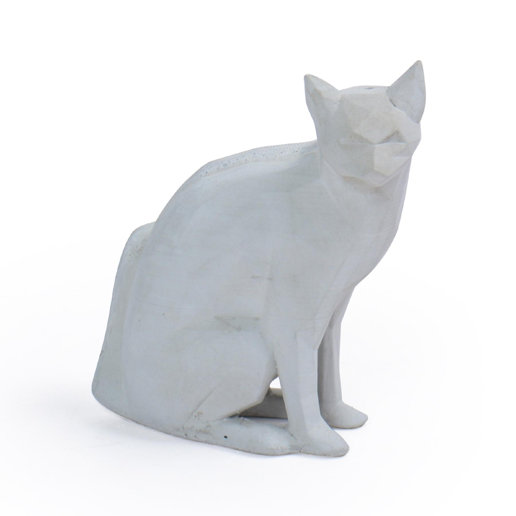 Escultura Gato geométrico de Concreto