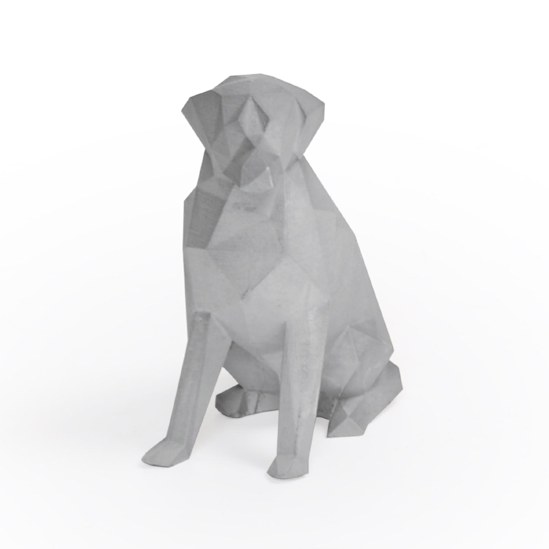 Escultura Geométrica Cachorro