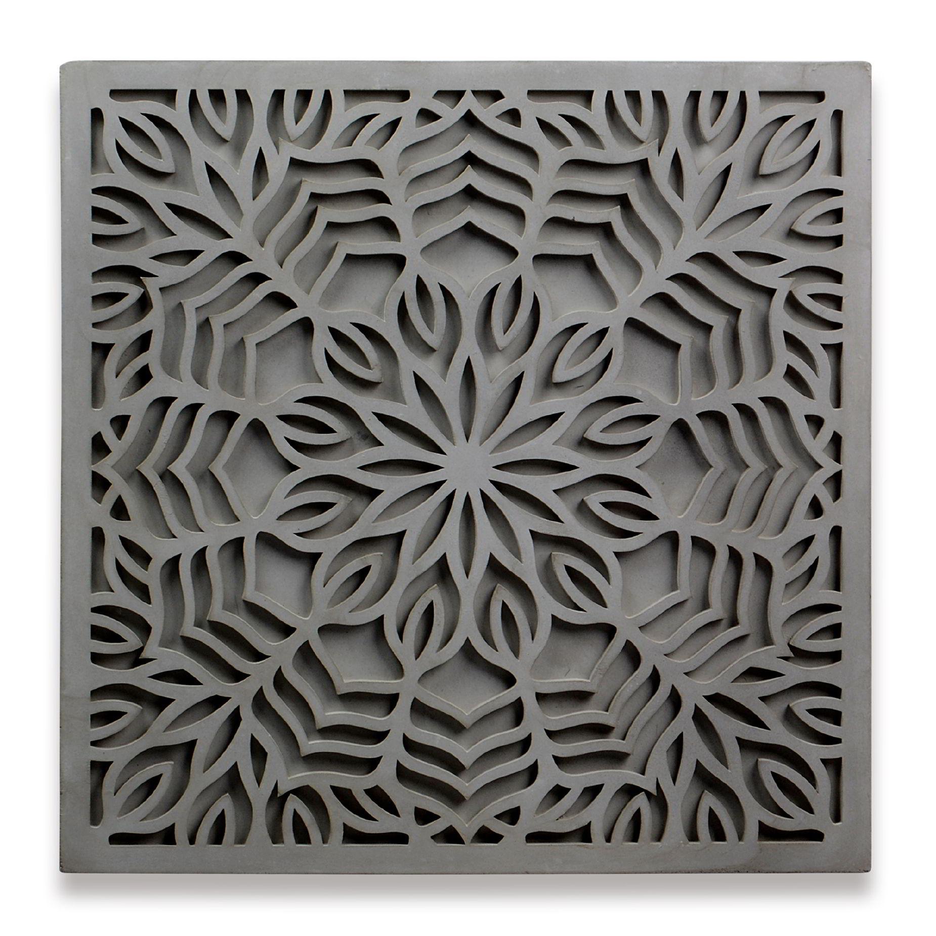 Mandala de Concreto Quadrada