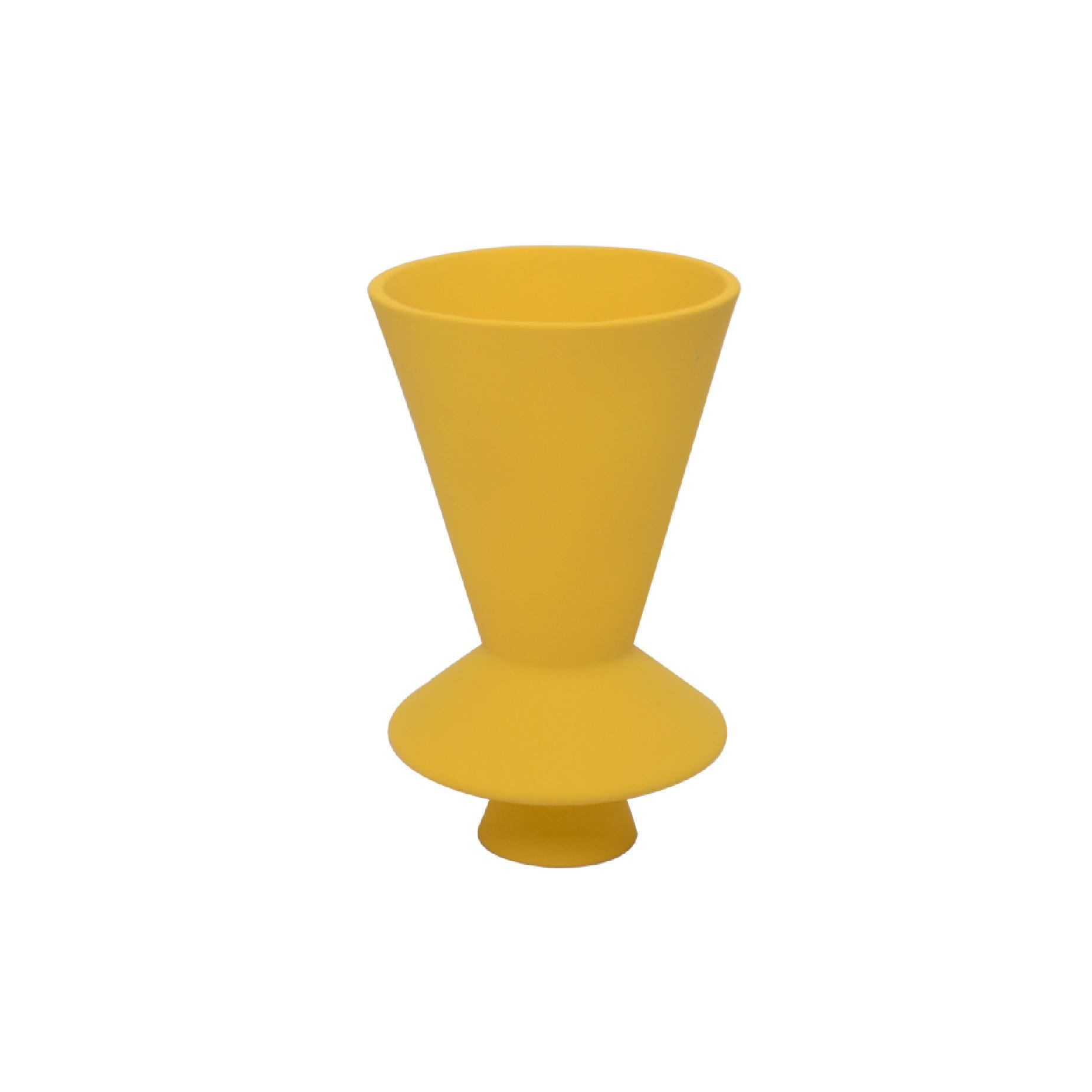 Vaso Lunático Pequeno Amarelo