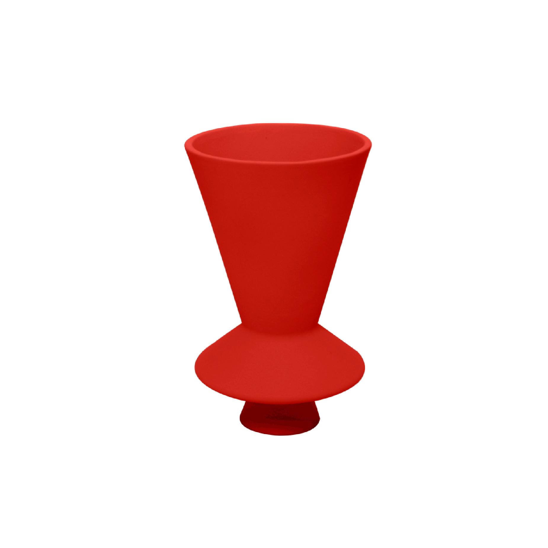 Vaso Lunático Pequeno Vermelho