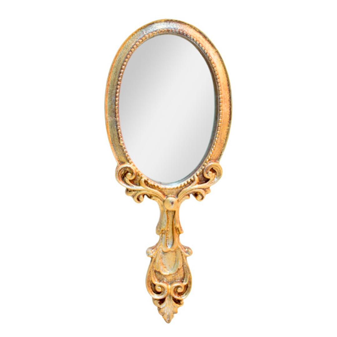 Espelho de mão de Resina