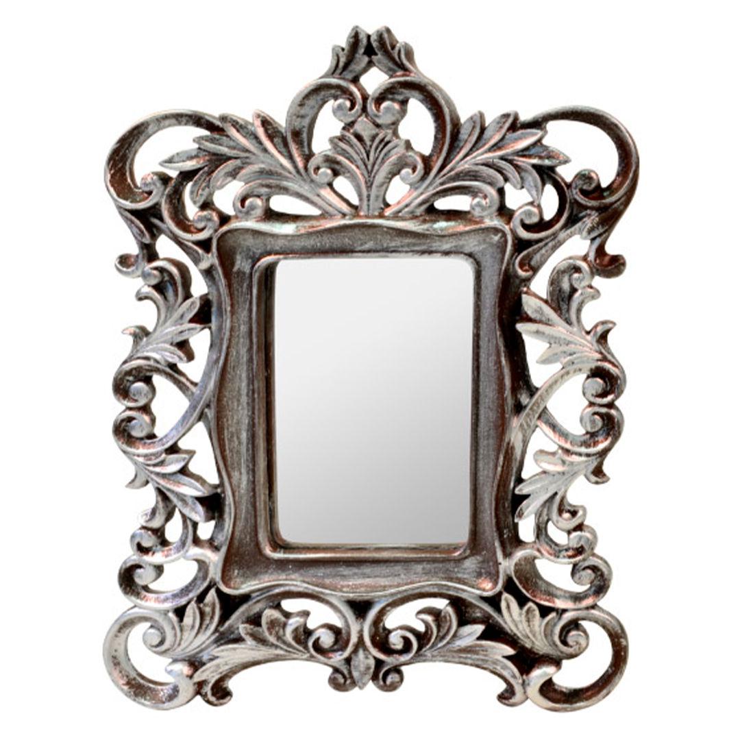 Moldura com espelho Prata