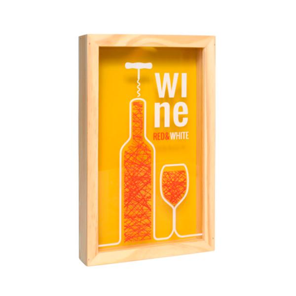 Caixa para rolha de vinho Amarela