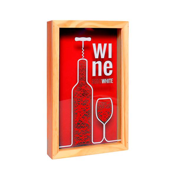 Caixa para rolha de vinho Vermelha