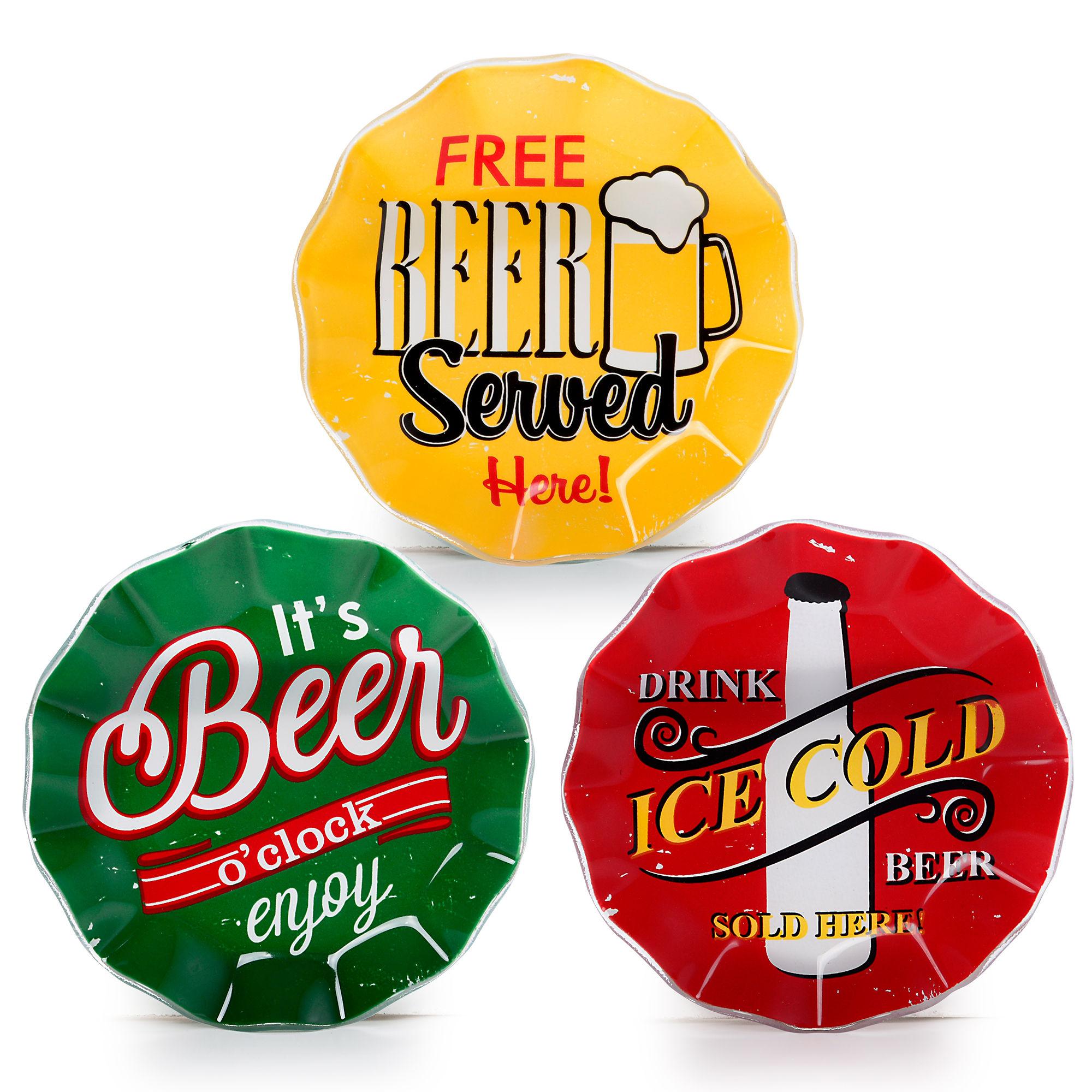 Conjunto de pratos para petiscos Beer