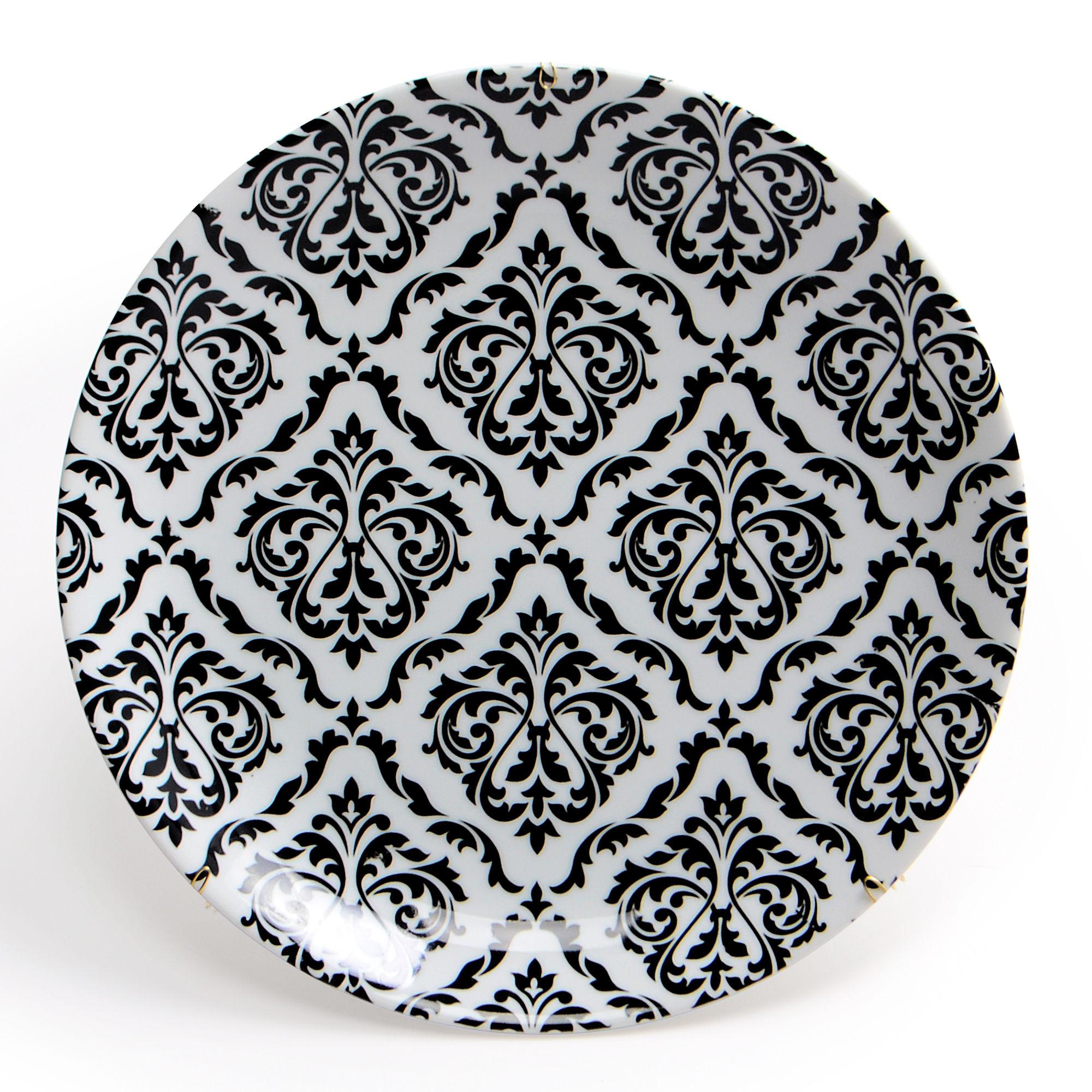Prato de parede de porcelana Arabesco