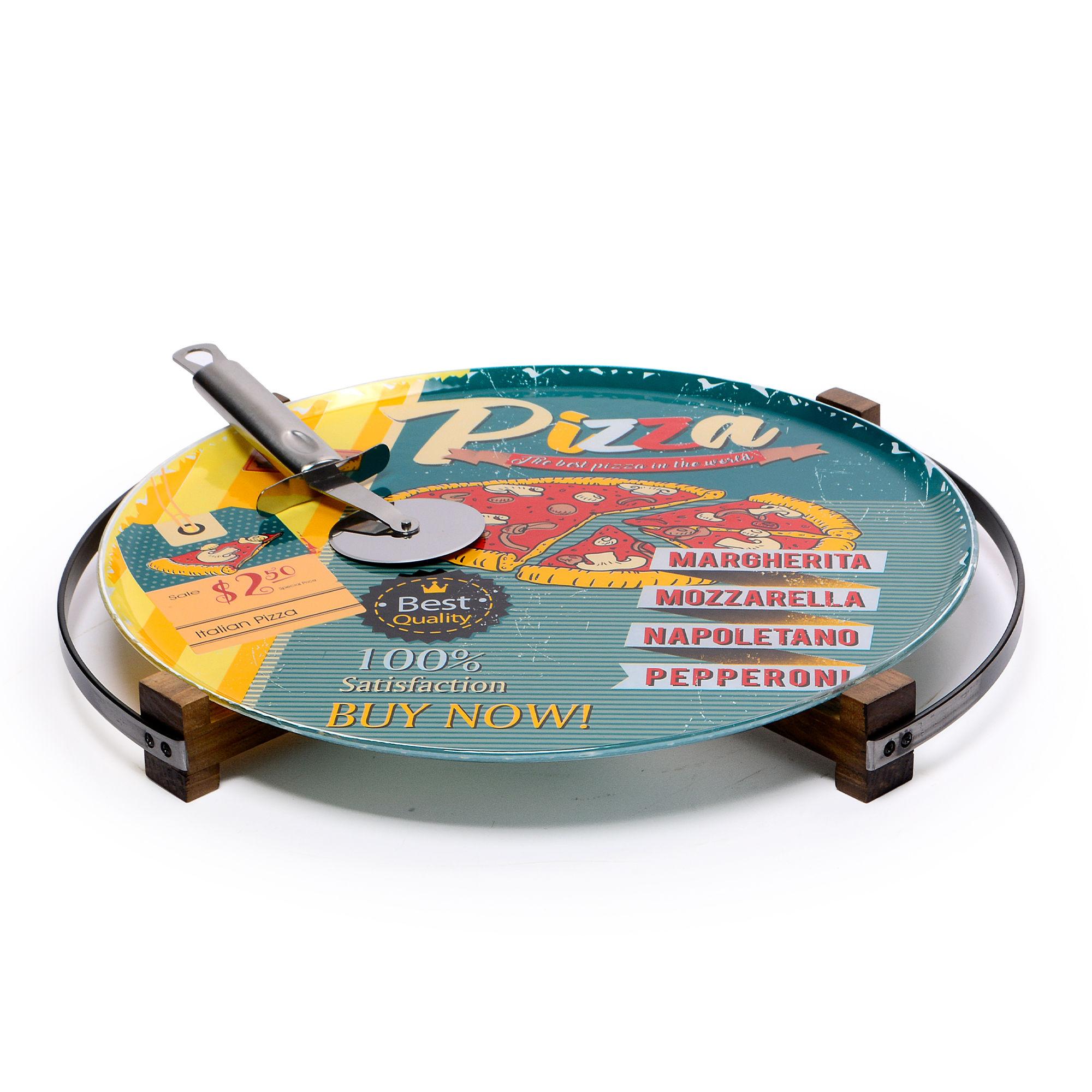 Prancha de Pizza com cortador