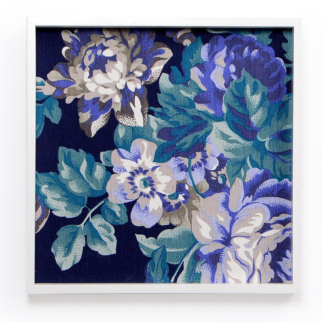 Quadro Floral Azul