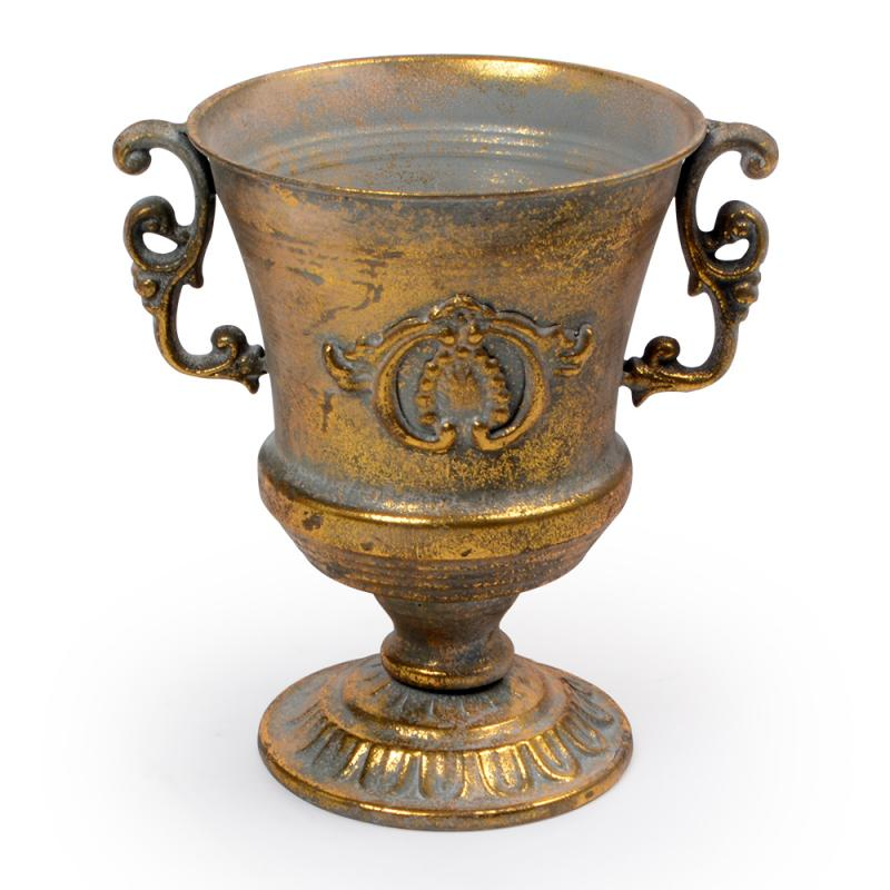 Vaso de ferro Dourado Pequeno