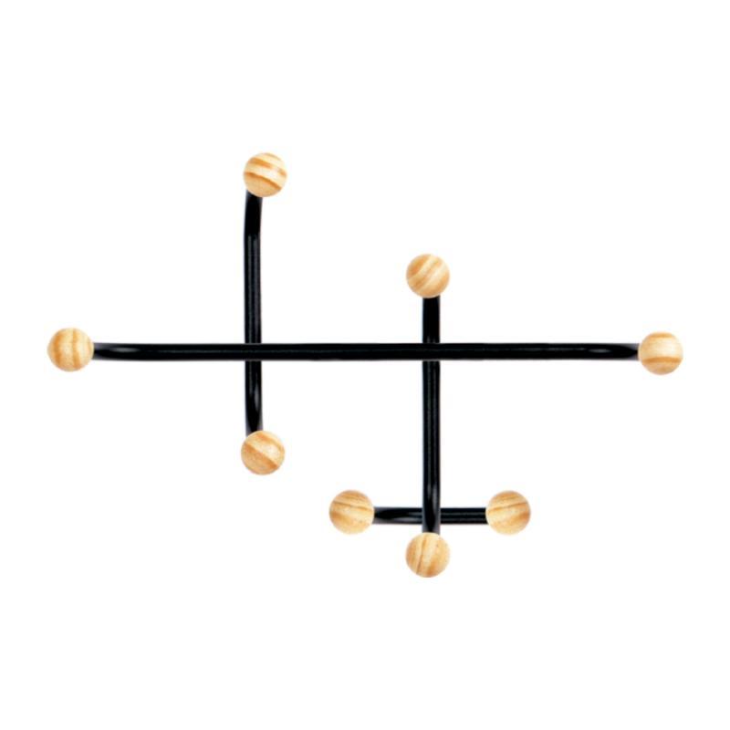 Cabideiro de ferro com 08 pontas
