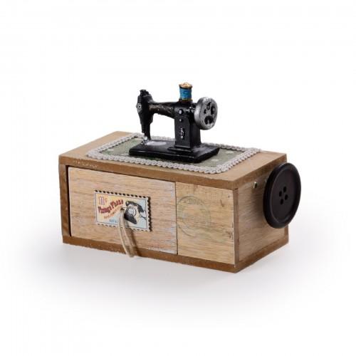 Caixa máquina de costura
