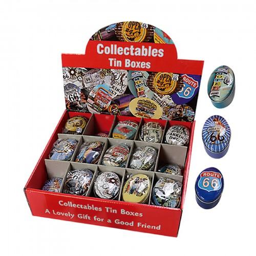 Conjunto com 30 latas decorativas