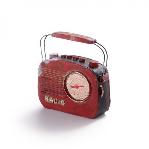Miniatura de rádio vintage decorativo