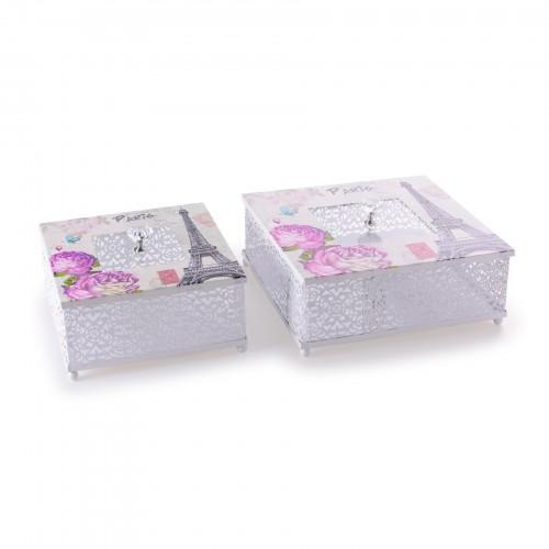 Conjunto 02 caixas Paris