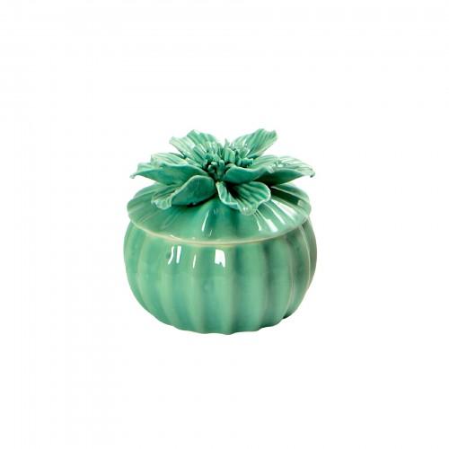 Potiche Flor de cerâmica