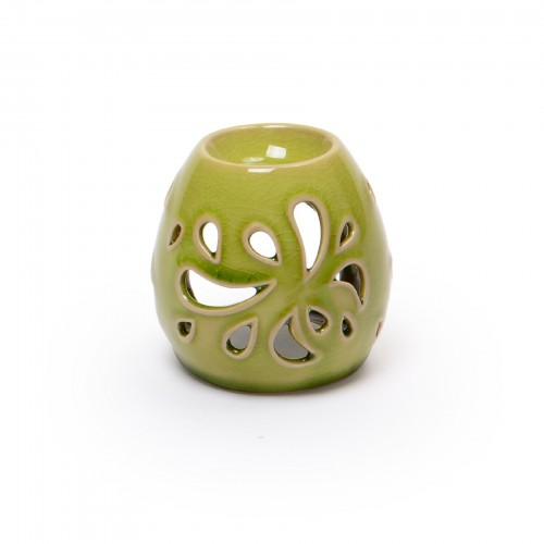 Porta vela de cerâmica
