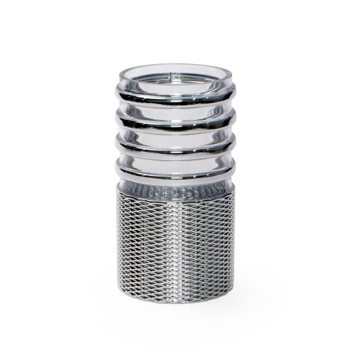Vaso pequeno de vidro Prata