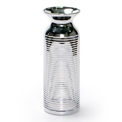Vaso grande de vidro Prata
