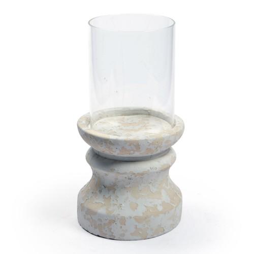 Porta Vela de cerâmica com Vidro