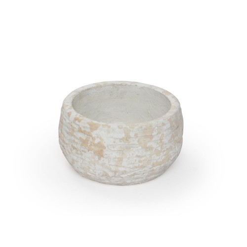 Vaso de cerâmica baixo