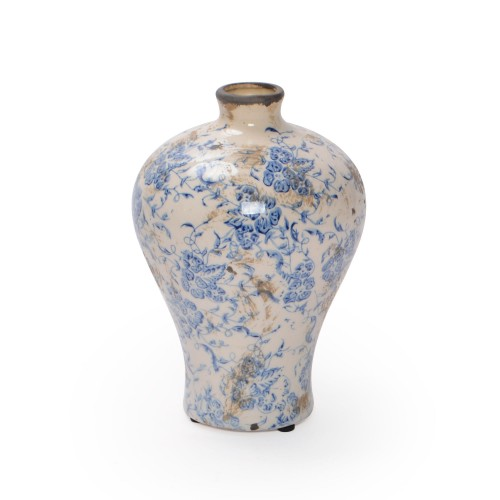 Vaso de cerâmica com estampa de Flores