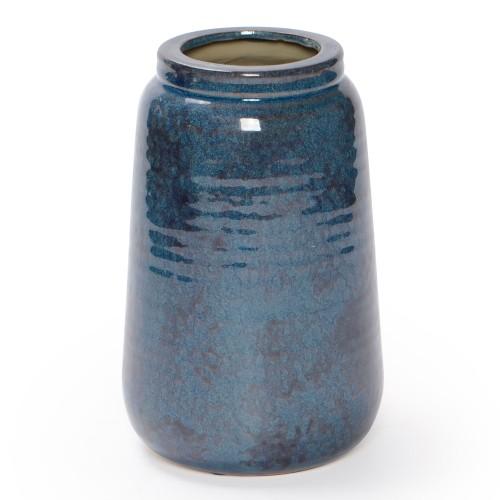 Vaso de cerâmica bojudo Azul