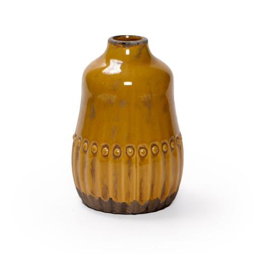 Vaso de cerâmica pequeno Ocre