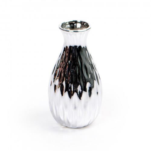 Mini vaso de cerâmica Prata