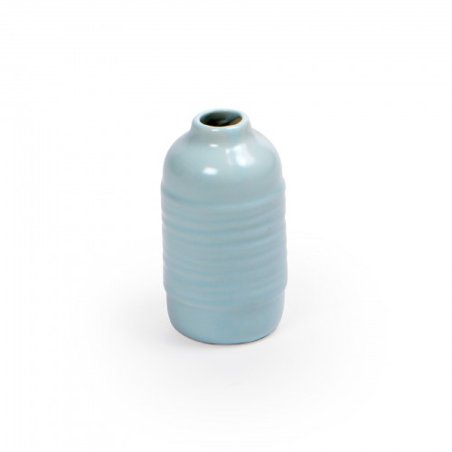 Mini vaso de cerâmica Azul