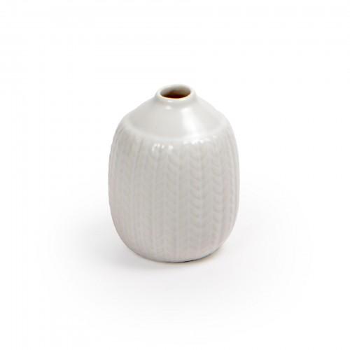 Mini vaso de cerâmica Branco