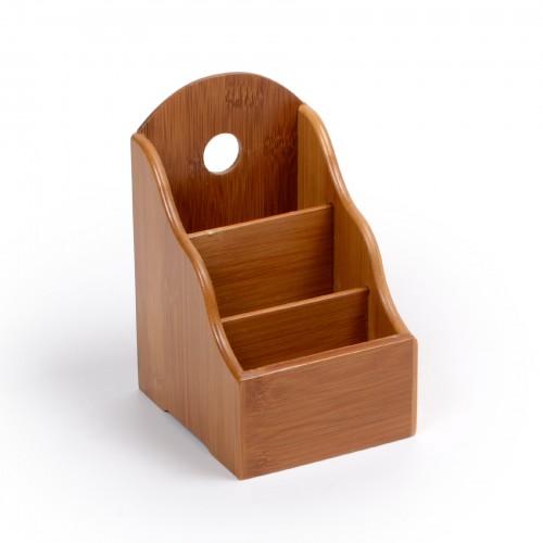 Porta controle remoto de madeira Bambu
