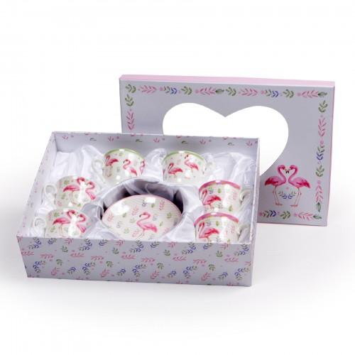 Jogo de xícaras de Chá Flamingos